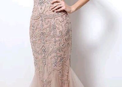 robe de soiree rose poudree